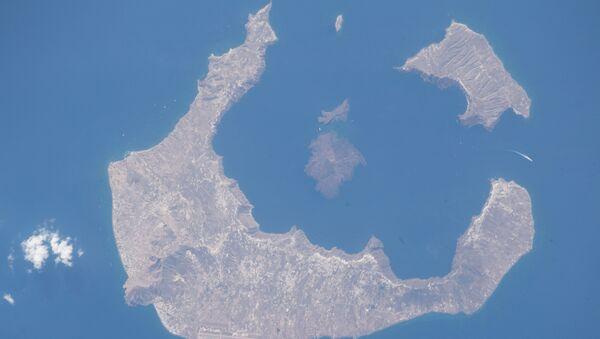 Санторини у Егејском мору - Sputnik Србија