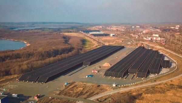 Skladište cevi za gasovod Severni tok 2 u nemačkoj luci Mukran - Sputnik Srbija