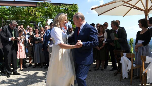 Karin Knajsl i Vladimir Putin - Sputnik Srbija