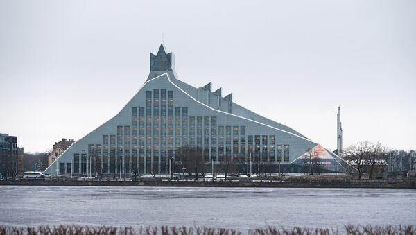 Зграда Летонске националне библиотеке у Риги - Sputnik Србија