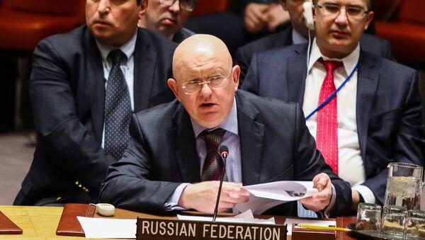 Stalni predstavnik Rusije u UN Vasilij Nebenzja - Sputnik Srbija