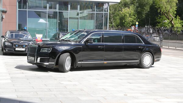 Automobil Aurus predsednika Rusije Vladimira Putina - Sputnik Srbija