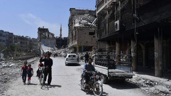 Предграђе Дамаска, Дума, након ослобођења од терориста - Sputnik Србија