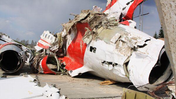 Остаци пољског владиног авиона Ту-154 у Смоленску у коме је погинуо Лех Качињски - Sputnik Србија