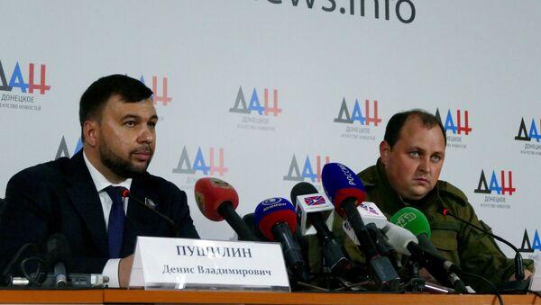 Дмитриј Трапезников и Денис Пушилин - Sputnik Србија