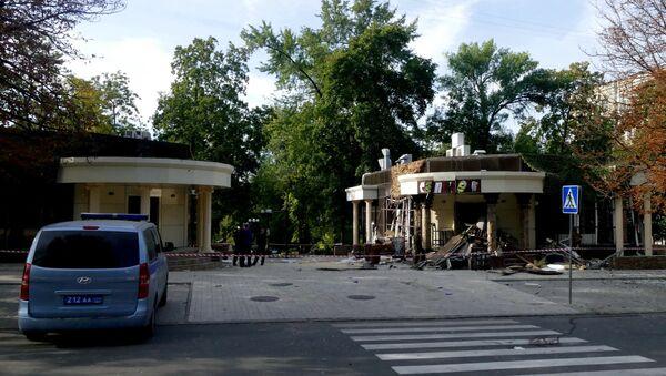 Kafić Separ u Donjecku u kojem je u eksploziji poginuo lider DNR Aleksandar Zaharčenko - Sputnik Srbija