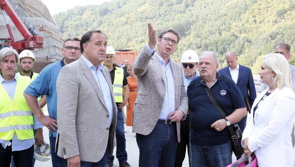 Председник Србије обишао радове у Грделичкој клисури - Sputnik Србија