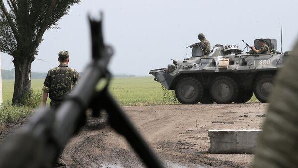 Припадници украјинске војске у близини Словјанска у Украјини - Sputnik Србија