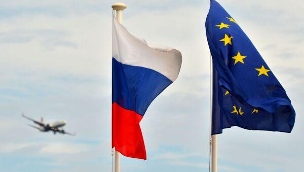 Zastava Rusije i EU - Sputnik Srbija