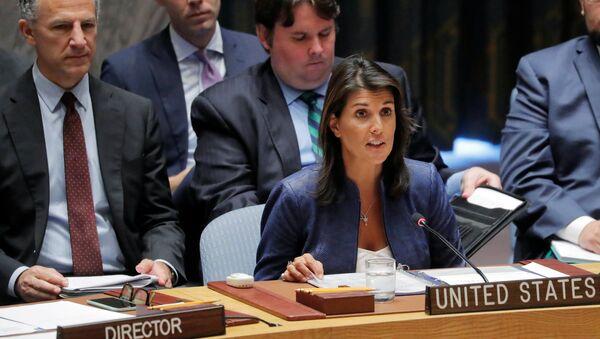 Stalna predstavnica SAD u Ujedinjenim nacijama Niki Hejli - Sputnik Srbija