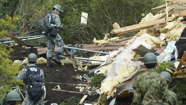 Спасиоци на острву Хокаидо после земљотреса - Sputnik Србија