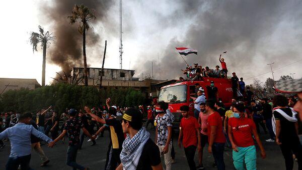 Demonstranti u Basri. - Sputnik Srbija