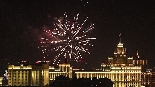 Vatromet u Moskvi povodom Dana grada - Sputnik Srbija