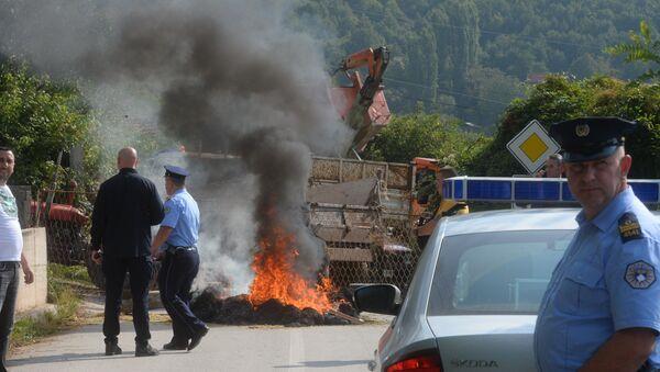 Блокада прилаза селу Бање на Косову и Метохији - Sputnik Србија