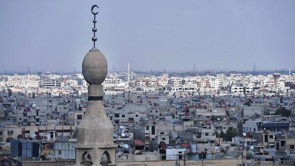 Predgrađe Damaska u blizini kampa palestinskih izbeglica Jarmuk - Sputnik Srbija