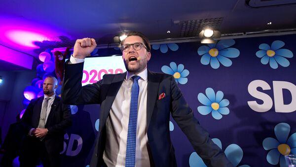 Lider Švedskih demokrata Džimi Akeson. - Sputnik Srbija