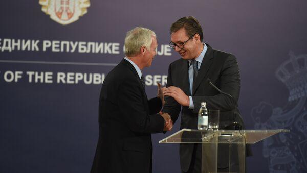 Рон Џонсон и Александар Вучић - Sputnik Србија