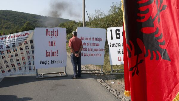 Blokada u Drenici tokom Vučićeve posete Kosovu i Metohiji - Sputnik Srbija