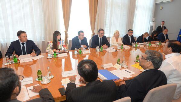 Sastanak srpske i indijske delegacije - Sputnik Srbija