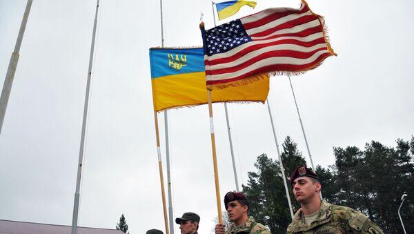Američki instruktori sa ukrajinskim vojnicima - Sputnik Srbija