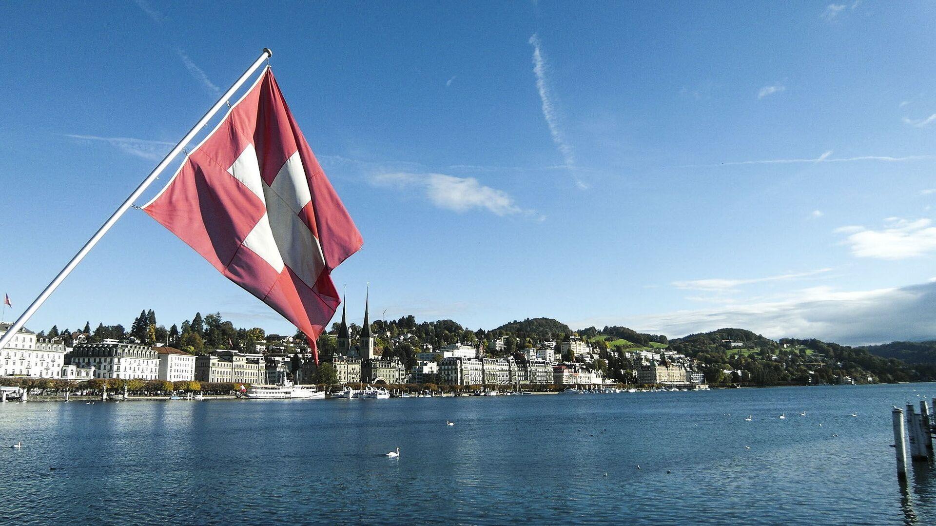 Švajcarska zastava u Lucernu - Sputnik Srbija, 1920, 27.07.2021