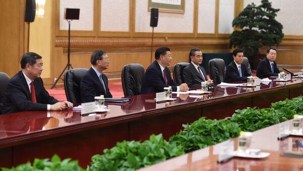 Kineska delegacija na čelu sa predsednikom Si Đinpingom - Sputnik Srbija