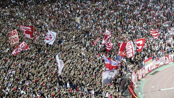 Navijači Crvene zvedze na stadionu Rajko Mitić - Sputnik Srbija