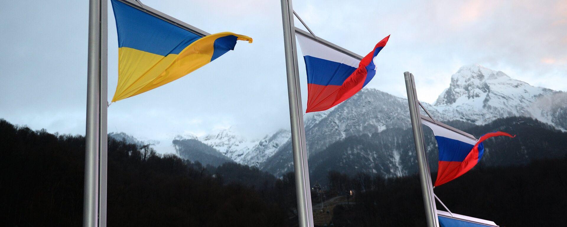 Zastave Ukrajine i Rusije - Sputnik Srbija, 1920, 03.04.2021
