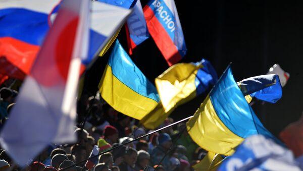 Заставе Украјине и Русије - Sputnik Србија