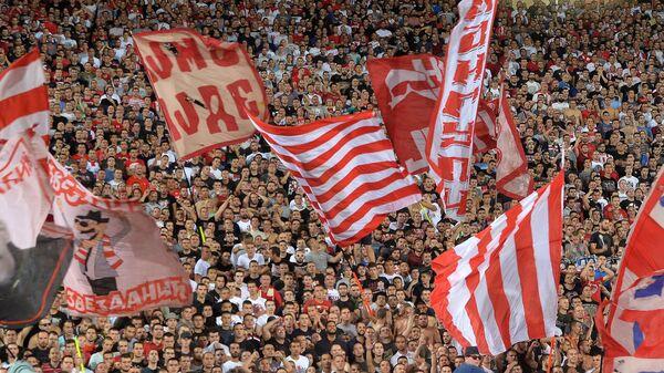 Navijači na utakmici Lige šampiona između Crvene zvezde i Napolija - Sputnik Srbija