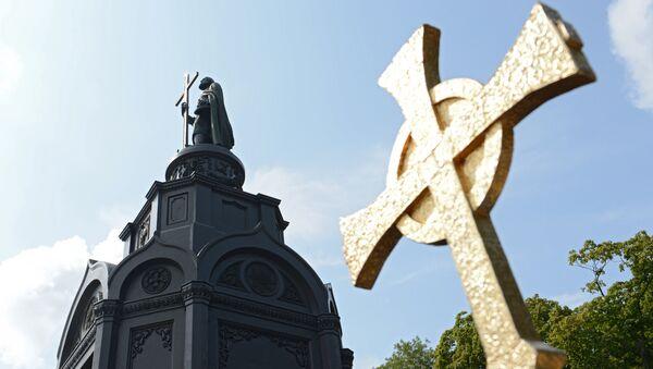 Spomenik svetom knezu Vladimiru u Kijevu - Sputnik Srbija