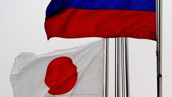 Zastave Japana i Rusije - Sputnik Srbija