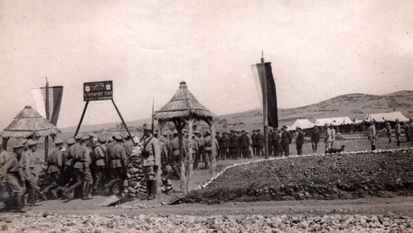Бивак српског коњичог пука, Солунски фронт 2. август 1916. - Sputnik Србија
