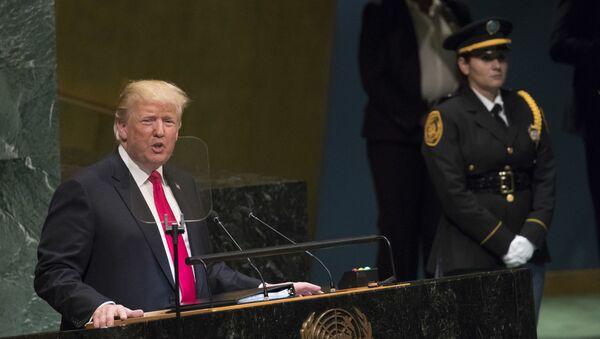 Амерички председник Доналд Трамп у  УН - Sputnik Србија