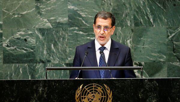 Premijer Maroka Saadin el Otmani obraća se učesnicima 73. zasedanja Generalne skupštine Ujedinjenih nacija u Njujorku - Sputnik Srbija