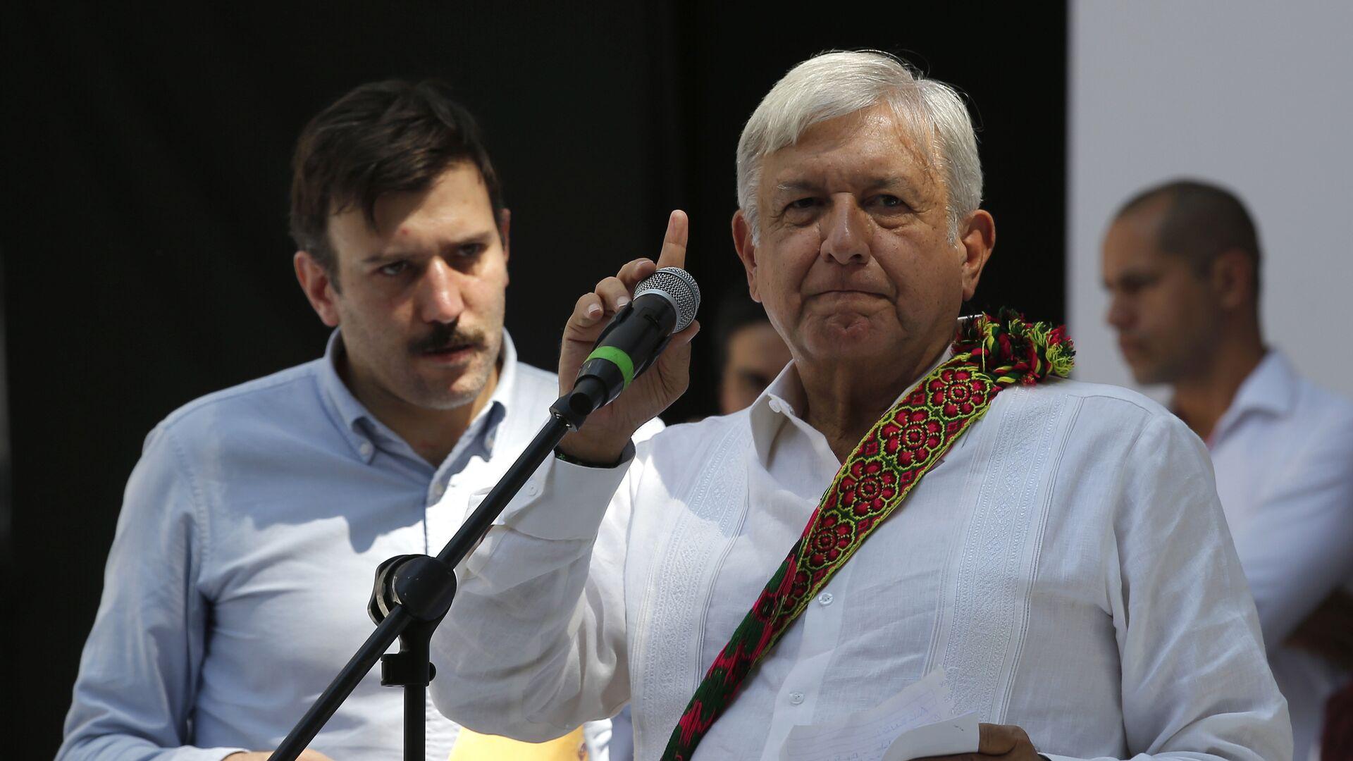 Predsednik Meksika Andres Manuel Lopez Obrador  - Sputnik Srbija, 1920, 01.08.2021