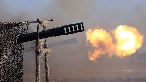 Paljba iz oruđa Giacint kalibra 152 mm na vojnim vežbama na poligonu Pavenkovo Baltičke flote Rusije - Sputnik Srbija