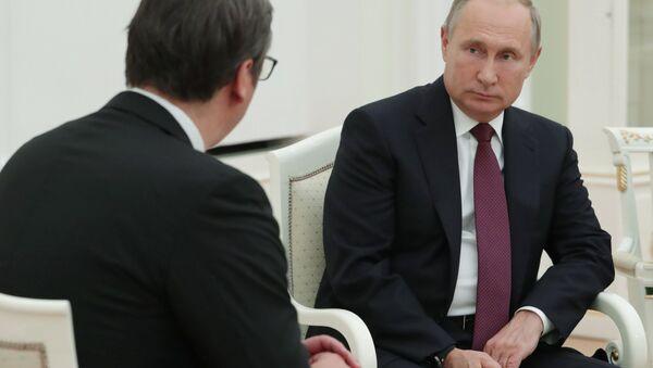 Vladimir Putin i Aleksandar Vučić - Sputnik Srbija