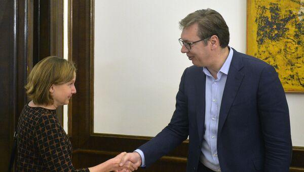 Linda Van Gelder i Aleksandar Vučić - Sputnik Srbija