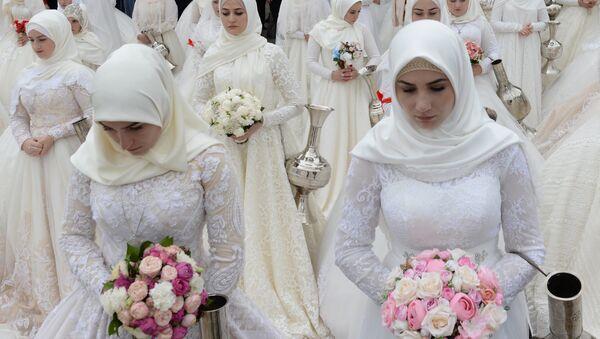 Свадба у Грозном поводом јубилеја града - Sputnik Србија