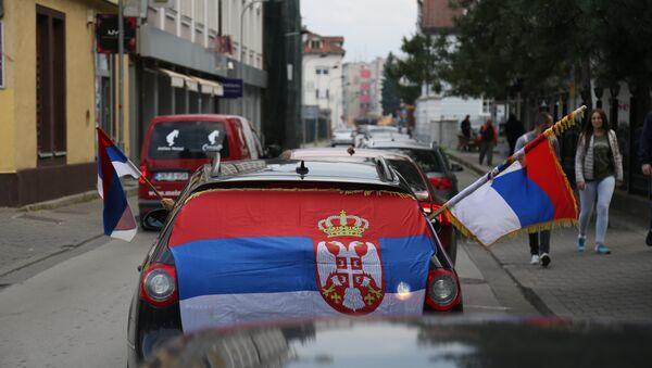 Srpske zastave na ulicama Banjaluke - Sputnik Srbija