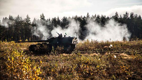Nemačka haubica 2000 (PzH 2000) na vojnim vežbama NATO-a Gvozdeni vuk II u Litvaniji - Sputnik Srbija