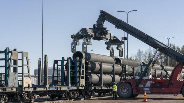 Постављање цеви за гасовод Северни ток 2 - Sputnik Србија