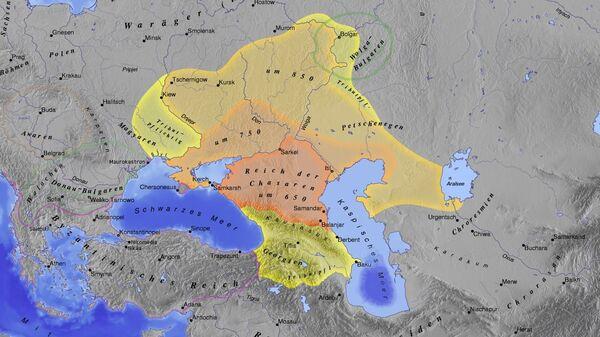 Karta Hazarskog kaganata - Sputnik Srbija