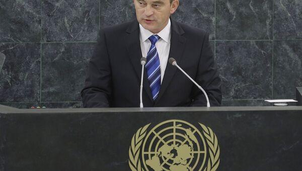 Željko Komšić, hrvatski član Predsedništva BiH obraća se za govornicom Ujedinjenih nacija 24. septembra 2013. - Sputnik Srbija