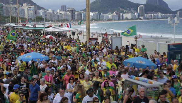 Митинг присталица  Жаира Болсонара у Рио де Женаиру. - Sputnik Србија
