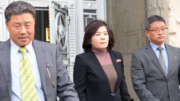 Заменица министра спољних послова Северне Кореје, Цој Сон Хи, након састанка у Министарству спољних послова Русије - Sputnik Србија