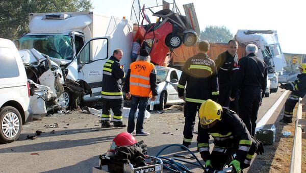 Do nesreće je došlo na auto-putu Beograd—Niš, oko 7.20 sati - Sputnik Srbija