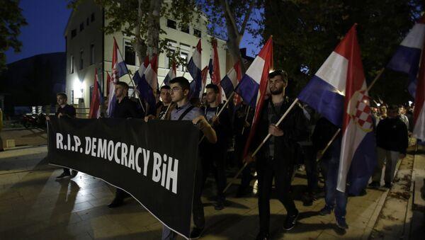 Protest Hrvata u Mostaru - Sputnik Srbija