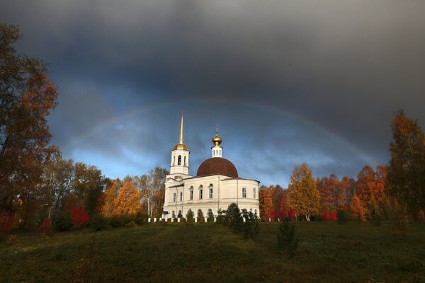 Crkva Svete Trojice u gradu Onjegu u Arhangelskoj oblasti - Sputnik Srbija